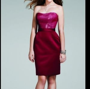 New Alfred Angelo Dark Red Formal Dress 16